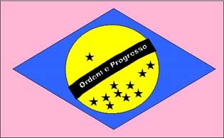 Bandeira do Brasil Para Ilusão de Ótica
